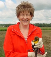 Kathy Kershner and bird