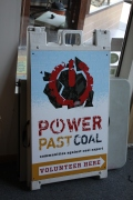 Power Past Coal Sign