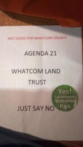 Doug Starcher found an anti flyer that got stickered