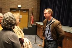 Educators confront Ericksen after the town hall