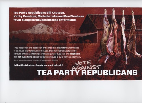 Slaughterhouse Mailer from Whatcom Democrats