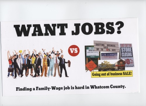 Coal Industry flyer for SAVEWhatcom