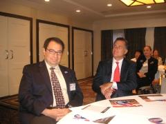 Pedro Celis and Mitt Romney