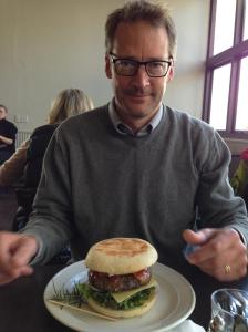 Todd Donovan and  a burger.